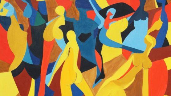 Arnold Weber - Dancing Female Figures, 1970 (detail)