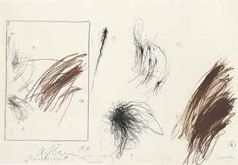 Arnulf Rainer-Parallel Malaktion mit Schimpanzen (Parallel Action Painting with Chimpanzees)-1979