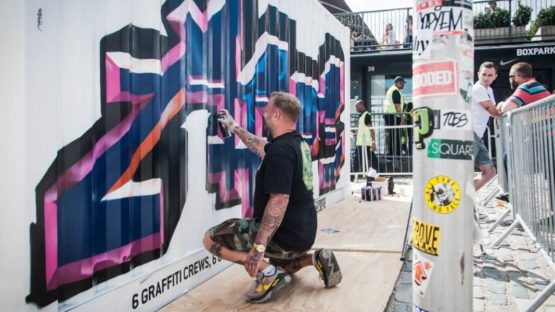 Aroe - Bomb The Box at Boxpark, UK