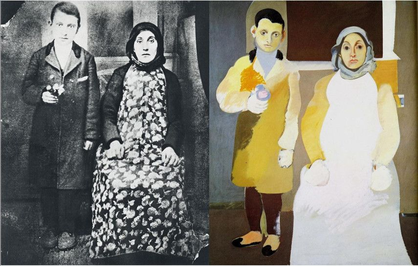 Arshile Gorky - The Artist and His Mother at Painting Time in New York - Image via blanshcom