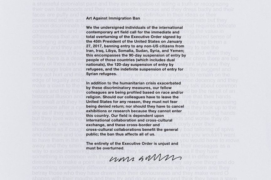 Art Against Immigration Poster by Liam Gillick
