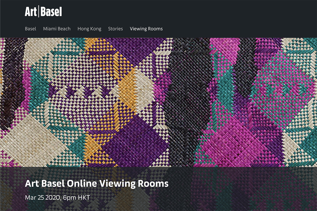 Art Basel Hong Kong Online Viewing Rooms 2020