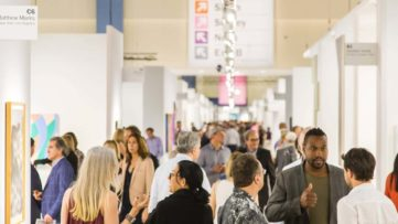 The crowd view of the Art Basel Miami