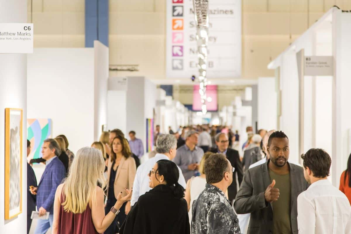 The crowd view of the Art Basel Miami; new free events