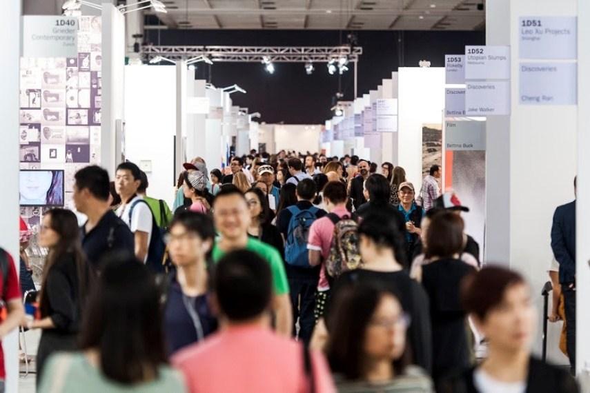 People at Art Basel in Hong Kong 2013.