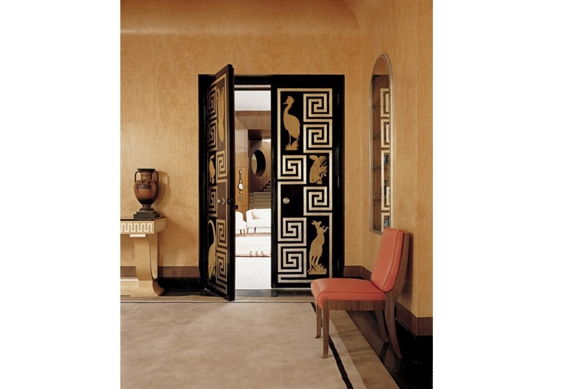 Art Deco doors (via erokousa.com)