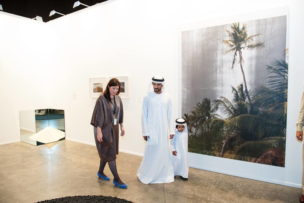 Art Dubai 2015, HH Sheikh Hamdan Visit, Image Courtesy of The Studio, Dubai