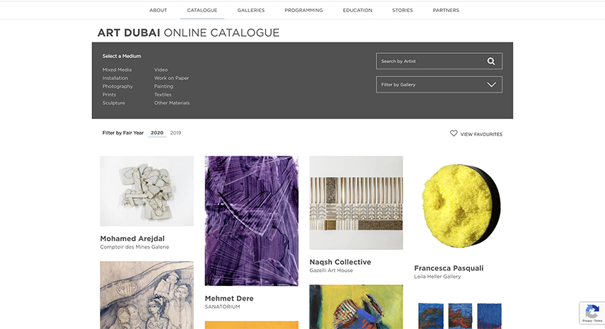 Art Dubai Fair's Online Catalog 2020