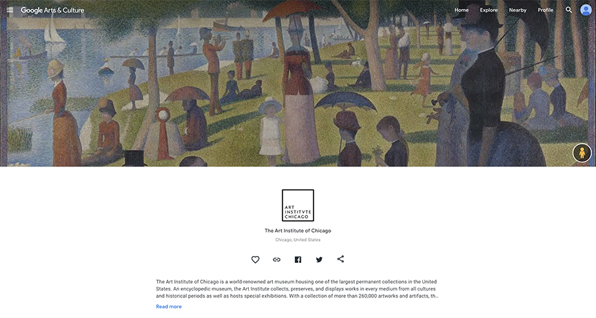 Art Institute of Chicago Google Arts & Culture