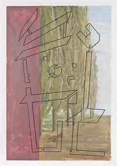 Art & Language-Study for Hostage 43-1990