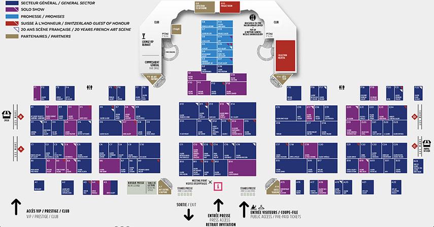 Art Paris Art Fair 2018 Floor Plan