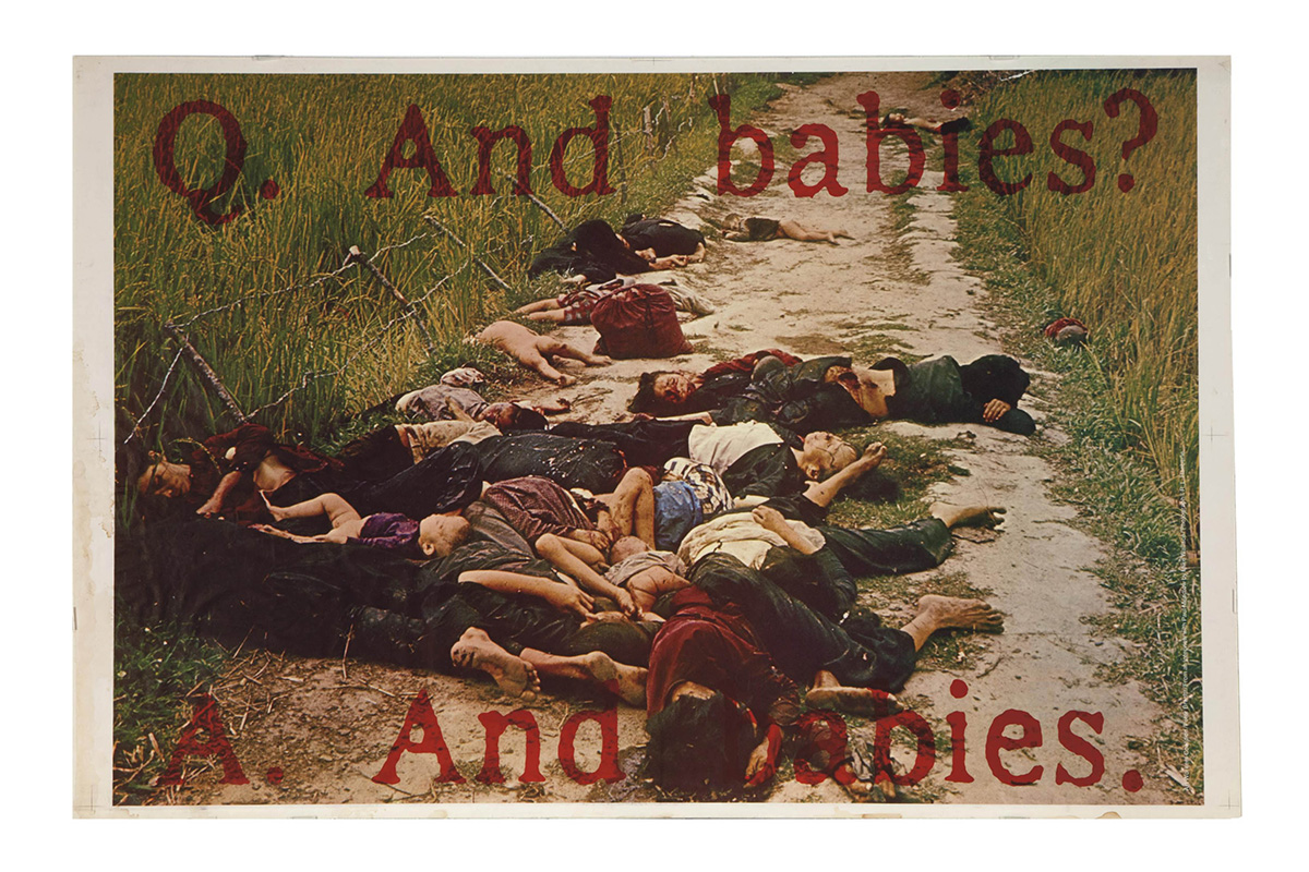 The Art Workers Coalition Poster And Babies
