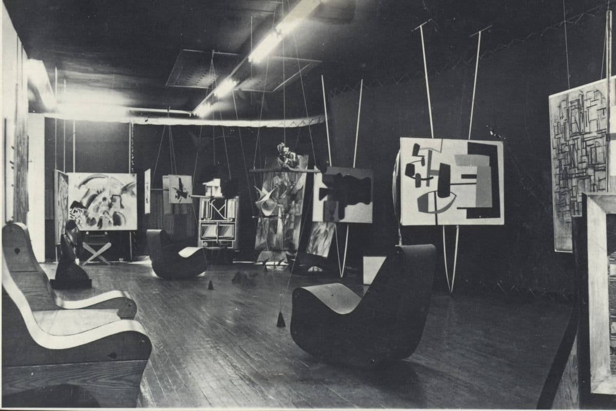 Art of This Century, view of the Abstract Gallery, New York, ca. 1943