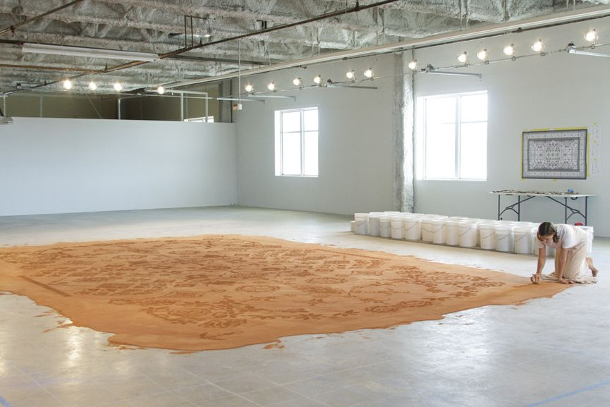 ArtPrize, Time-Based Winner - 'Red Dirt Rug Monument' at Western Michigan University Grand Rapids, by Rena Detrixhe