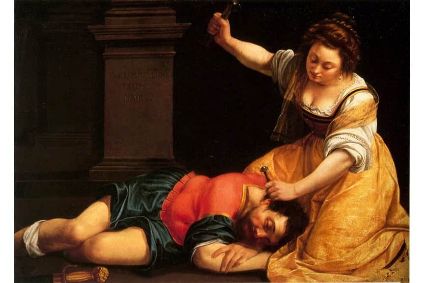 Artemisia Gentileschi- Jael and Sisera; new scholarship on her arts and other women artists from the period has been recently published