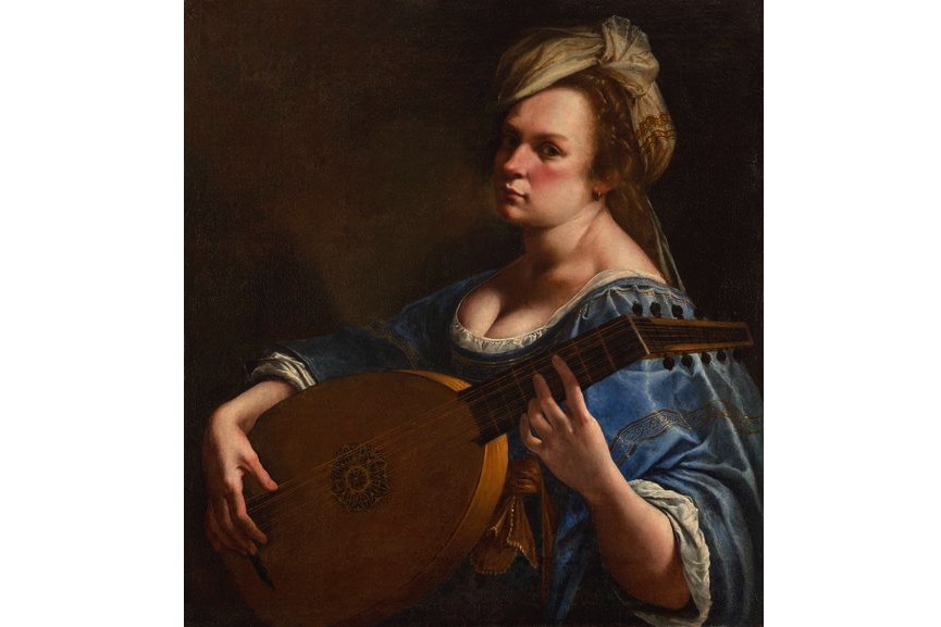 Artemisia Gentileschi - Self-Portrait as a Lute Player, about 1615–18, on view in London