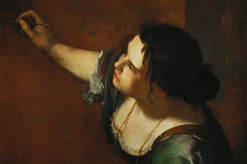 Artemisia Gentileschi - Self-Portrait as the Allegory of Painting (detail), 1638–9; one of the women in 16th century art history