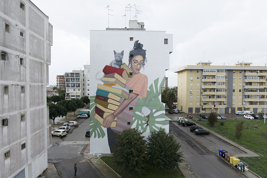Artez - Bookworm, Lecce, Italy 2017
