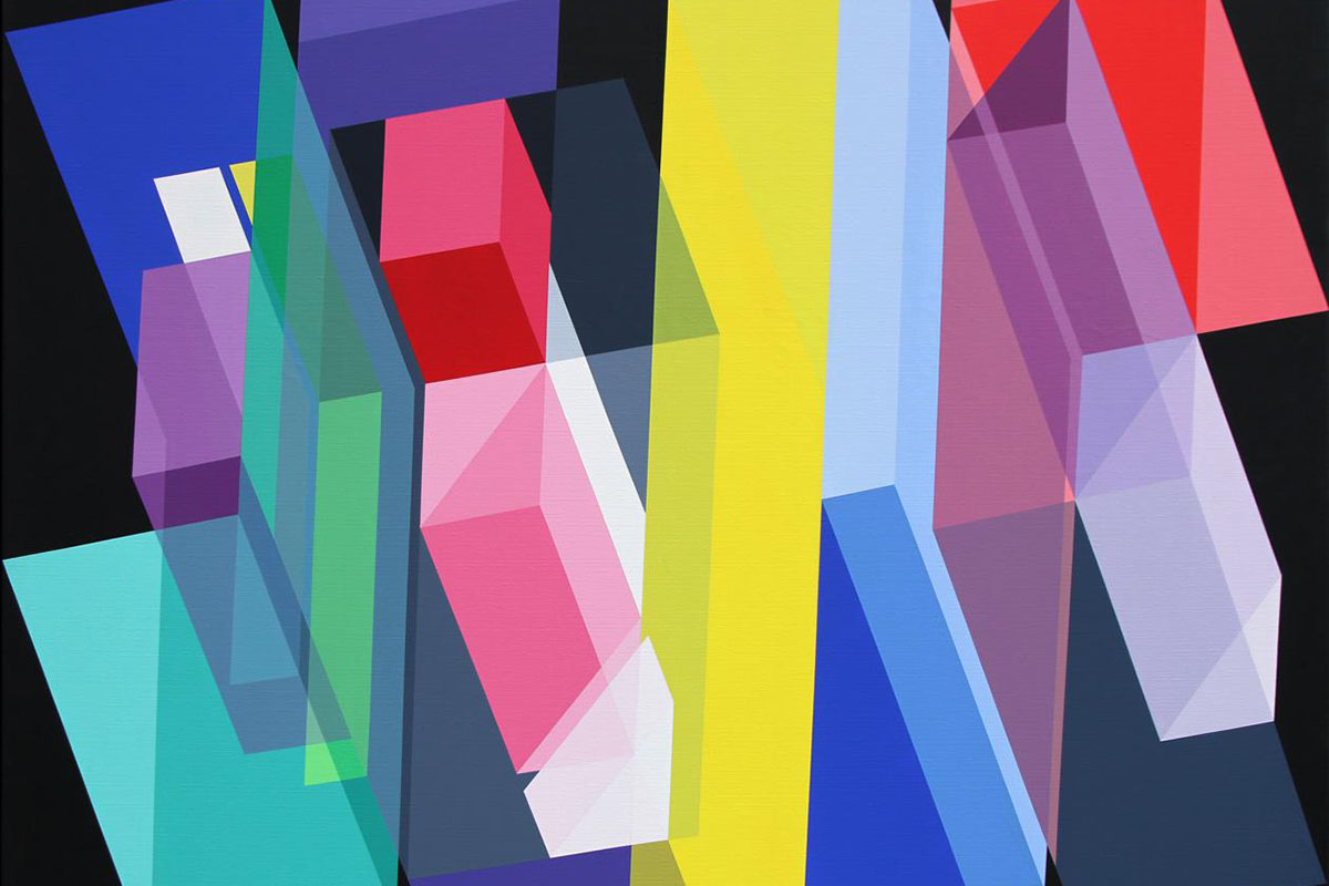 Geometric art can be simple or complex like Cubism paintings