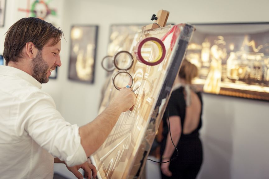 Artist Max Zorn. Moniker London 2016