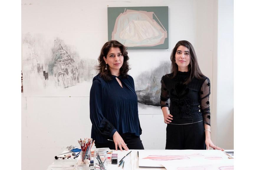 Artist Naiza Khan and curator Zahra Khan