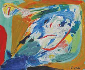 Asger Jorn-The Innocent Stone-Thrower-1966