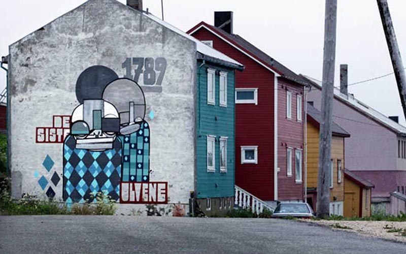 Atle Ostrem - Outdoor work, Vardo, Norway, photo by Ian Cox, 2012