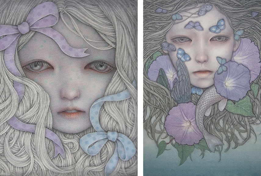 Atsuko Goto - (Left) Beautiful Foreign Substance, (Right) Terrible Dream.