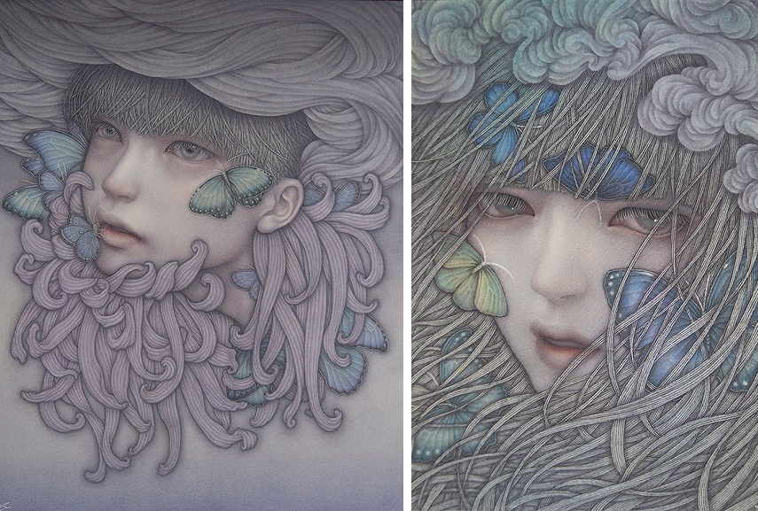 Atsuko Goto - (Left) Escape to the Nonexistent Utopia, (Right) Raging Spring Wind.