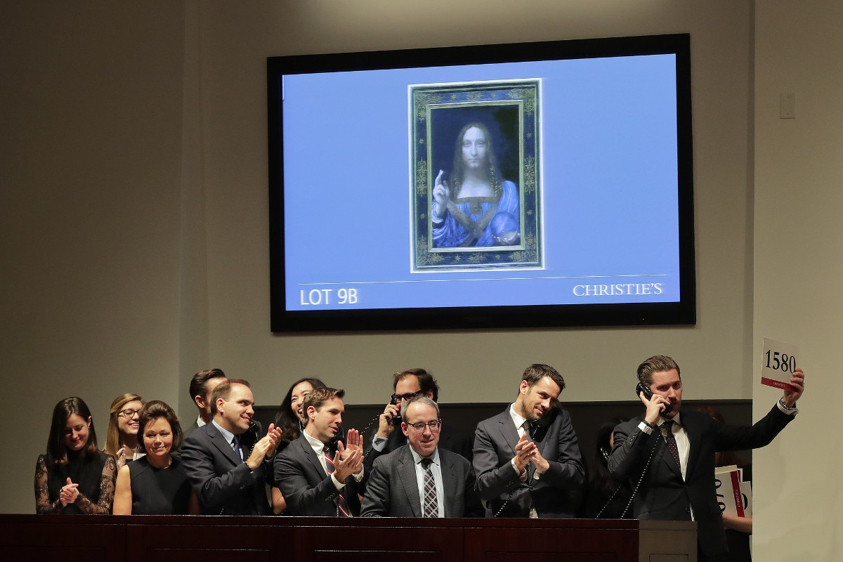Auctioning the Leonardo da Vinci's Salvator Mundi portrait A million paintings were up for sale in November around the world, so it's clear to see that the painting business is a sure way to work for a million dollars