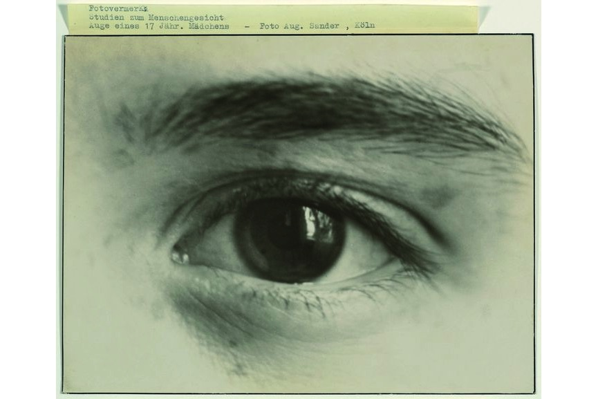 August Sander - Eye of a 17-year-old girl