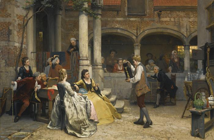 Auguste Serrure-At The Auction-1871
