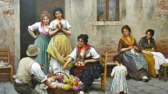 Auguste Serrure - The Little Flower Seller, 1864