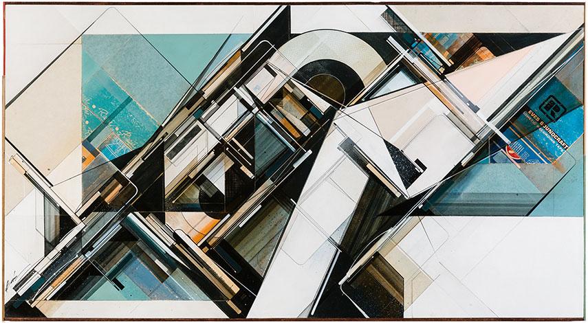 augustine kofie exhibition view graffuturism graffuturism work collage paper