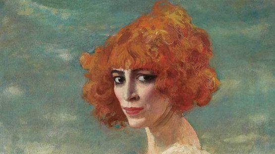 Augustus Edwin John - The Marchesa Casati (detail), 1919