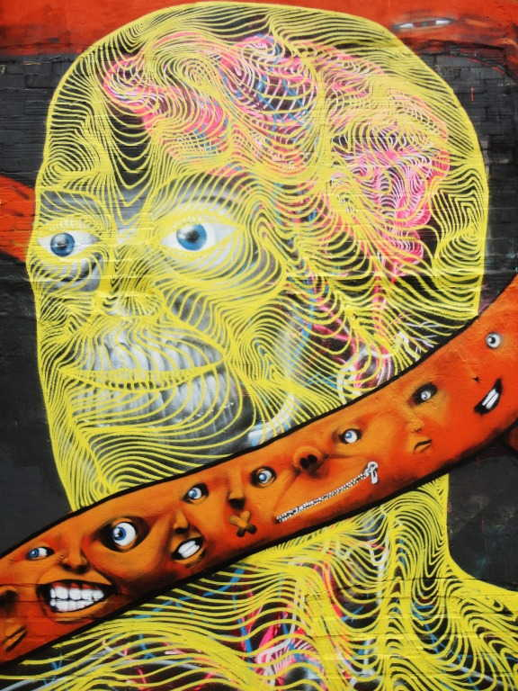 Awer - Mural in Hamburg, Germany (detail), 2015