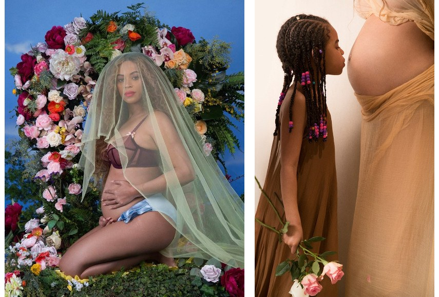 Awol Erizku - Beyonce pregnancy announcement photograph like news