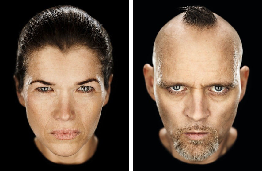 Axl Klein - Wrath series Anke Engelke (left), Thomas (right), 2013, photo credits www.productionparadise.com