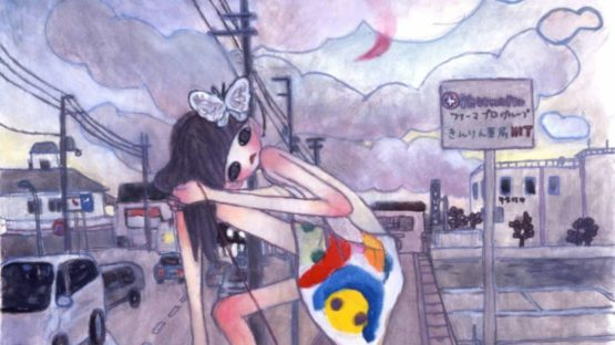 Aya Takano - A Night Walk - A Pink Moon Emerged (detail)