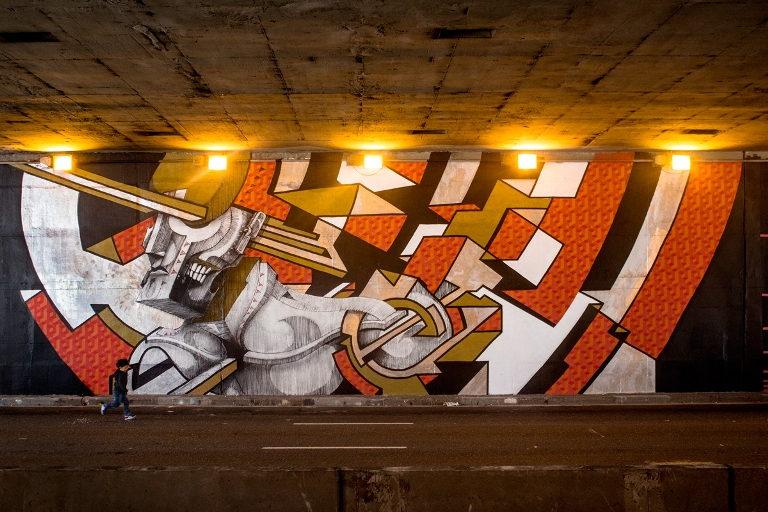 B-47 - Mural for Santo André Cidade Grafitti, 2015 (2)