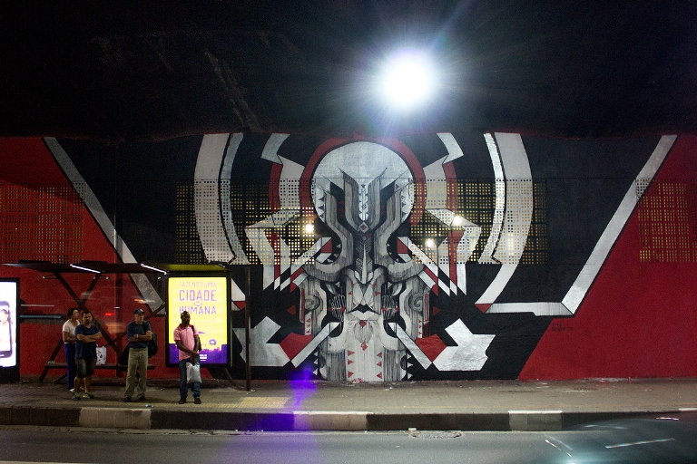B-47 - Mural for the Urban art project at Avenida 23 de Maio, Sao Paulo, 2014