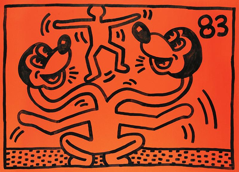 BRAFA 2020 Galerie de la Béraudière - Keith Haring - Mickey Mouse