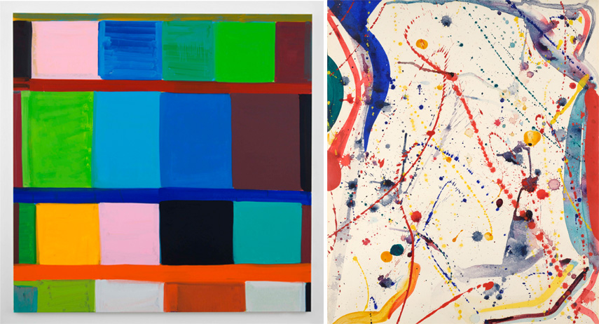 BRAFA 2020 Left Baronian Xippas - Stanley Whitney - Parisian Blue Right Boon Gallery - Sam Francis - Abstract Composition