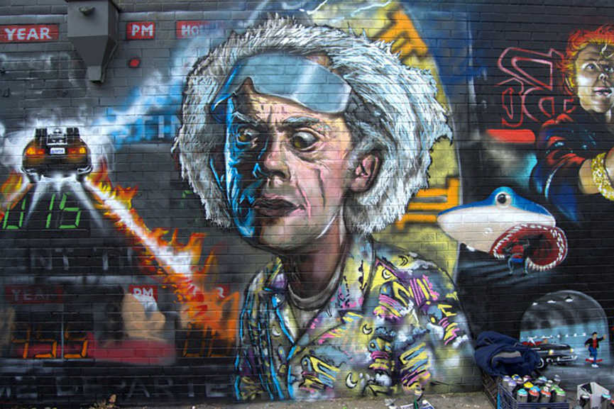 Back to the Future Mural (Photo by Lindsey Bartlett) 3