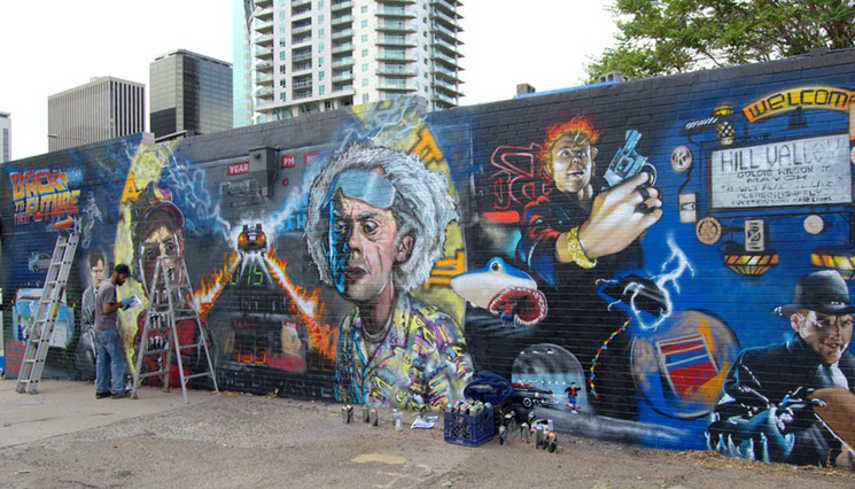 Back to the Future Mural (Photo by Lindsey Bartlett) 5