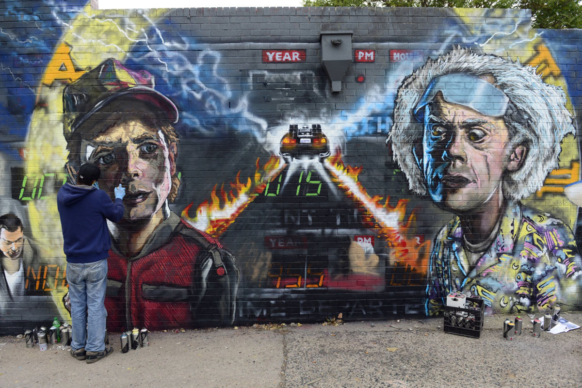 Back to the Future Mural
