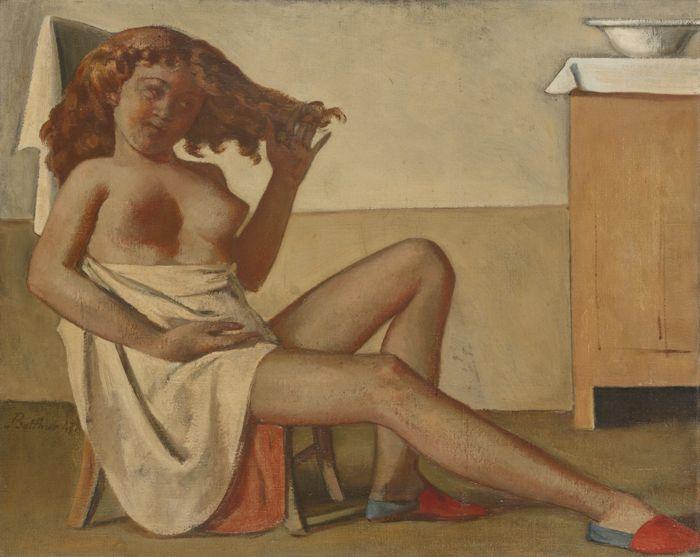 Balthus-Adolescente Aux Cheveux Roux-1947
