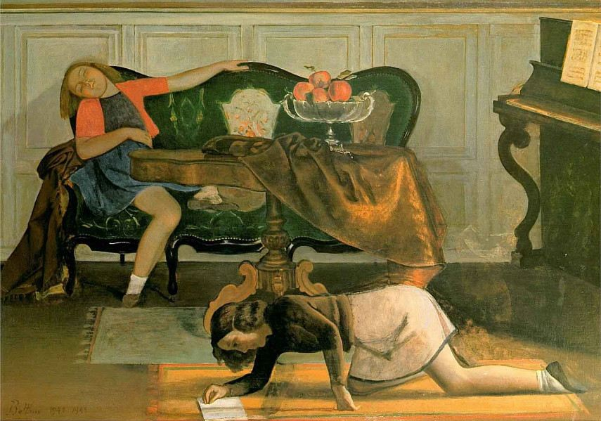 Every February, the Pierre Rilke museum in Switzerland presents all Balthus' later paintings with cats