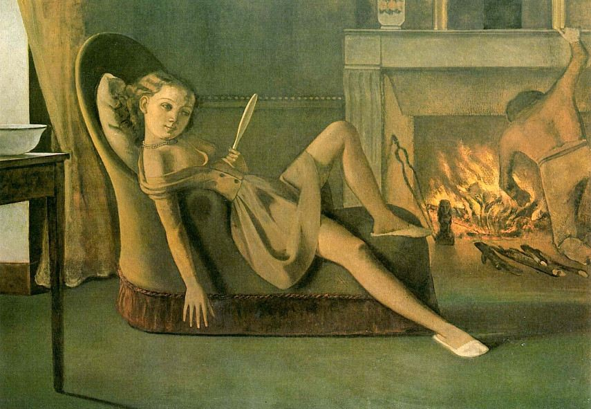 Balthus - Mostra Roma Scuderie like Exhibition in a Museum - Image via pinterestcom