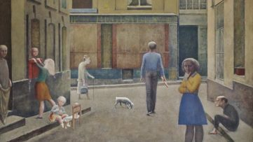 Balthus - Passage Du Commerce-Saint-André, detail
